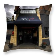 0018 Soho Burger Bar Throw Pillow