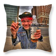 0018 Vietnam Vet At The Square  Throw Pillow