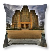 0019 City Hall From Within The Square Throw Pillow