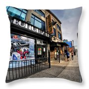 002 Bottoms Up And The Chip Strip Throw Pillow