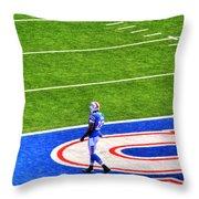002 Buffalo Bills Vs Jets 30dec12 Throw Pillow