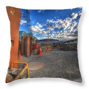 002 Building Buffalo Throw Pillow