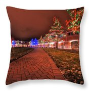 002 Christmas Light Show At Roswell Series Throw Pillow