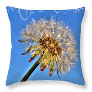 002 Make A Wish With Text Throw Pillow