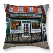 002 Mulligans Brick Bar Throw Pillow