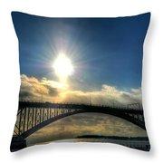 002 Peace Bridge In Passing  Throw Pillow