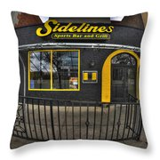 002 Sidelines Sports Bar And Grill Throw Pillow