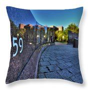 002 We Will Not Forget At The Erie Basin Marina Throw Pillow
