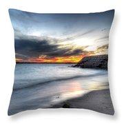 0020 Awe In One Sunset Series At Erie Basin Marina Throw Pillow