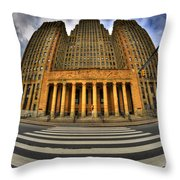 0021 Approaching Our City Hall Throw Pillow