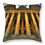 0022 Admiring The Architecture Of Our City Hall Throw Pillow