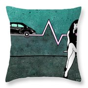 Pink Slip Throw Pillow