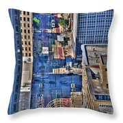 0022 Visual Highs Of The Queen City Throw Pillow