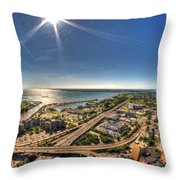 0023 Visual Highs Of The Queen City Throw Pillow