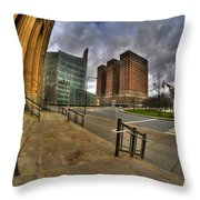 0024 From The Steps Of City Hall Throw Pillow