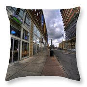 0024 The Edible Side Of The Chipp Stripp Throw Pillow