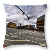 0027 Delaware And The Chipp Stripp  Throw Pillow