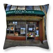 0027 Takis Restaurant  Throw Pillow