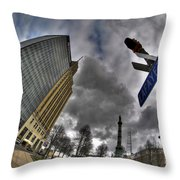 0028 Main And Lafayette Throw Pillow
