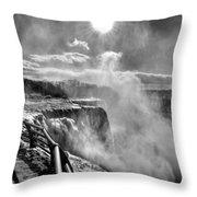 002a Niagara Falls Winter Wonderland Series Throw Pillow