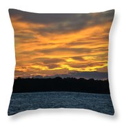 003 Awe In One Sunset Series At Erie Basin Marina Throw Pillow