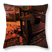 003 Christmas Light Show At Roswell Series Throw Pillow