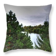 003 Hoyt Lake Autumn 2013 Throw Pillow