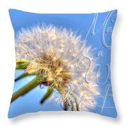003 Make A Wish With Text Throw Pillow