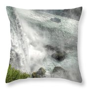 003 Niagara Falls Misty Blue Series Throw Pillow