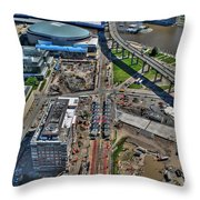 003 Visual Highs Of The Queen City Throw Pillow