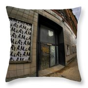 0034 Throwback Shopping Center Of Am And As Throw Pillow