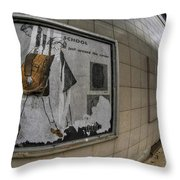 0035 Throwback Shopping Center Of Am And As Throw Pillow