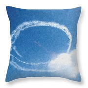 0036 - Air Show - Pastel Chalk Throw Pillow