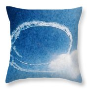 0036 - Air Show - Watercolor Throw Pillow