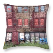 0037 Abandoned Warehouse Throw Pillow
