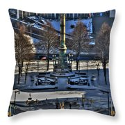 0037 Birdseye View Of Lafayette Square Throw Pillow