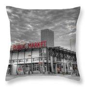 0038 Milwaukee Public Market Throw Pillow