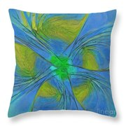 004 Abstract Throw Pillow