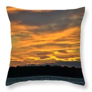 004 Awe In One Sunset Series At Erie Basin Marina Throw Pillow