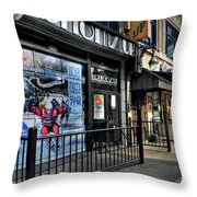 004 Bottoms Up And The Chip Strip Throw Pillow