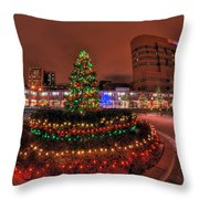004 Christmas Light Show At Roswell Series Throw Pillow