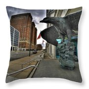 004 Court House Delaware Ave Throw Pillow