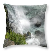 004 Niagara Falls Misty Blue Series Throw Pillow