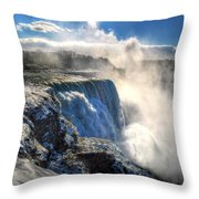 004 Niagara Falls Winter Wonderland Series Throw Pillow