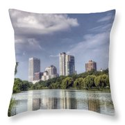 0041 Milwaukee Wisconsin Throw Pillow
