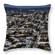 0042 After The Nov 2014 Storm Buffalo Ny Throw Pillow