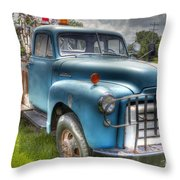 0042 Old Blue 2 Throw Pillow