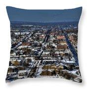 0043 After The Nov 2014 Storm Buffalo Ny Throw Pillow