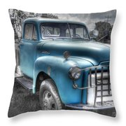 0043 Old Blue Throw Pillow