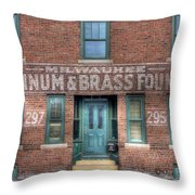 0044 Foundry Building Throw Pillow